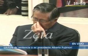Mientras Alberto Fujimori daba pena y estaba jato...
